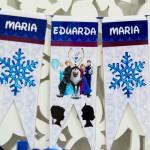 Bandeirinha Varalzinho Festa Infantil Frozen