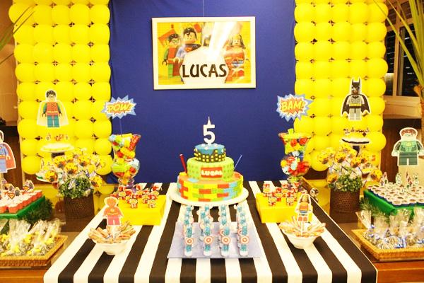 Decoração Festa Lego Super-Heróis