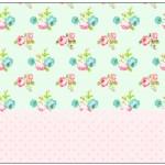 Lata de Leite Floral Verde e RosaLata de Leite Floral Verde e Rosa
