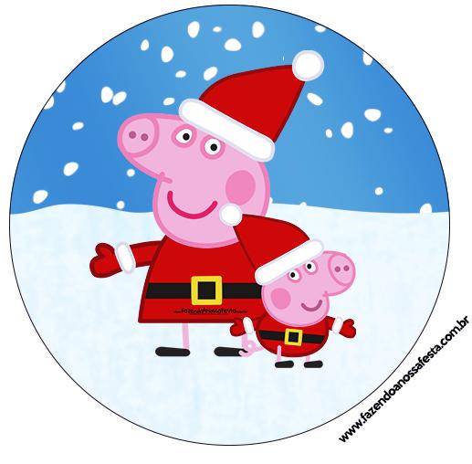 Latinhas e tubetes peppa pig natal fazendo a nossa festa - Peppa cochon noel ...