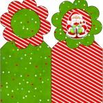 Marcador de Páginas Natal Vermelho e Verde