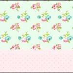 Marmita 500gr Floral Verde e Rosa