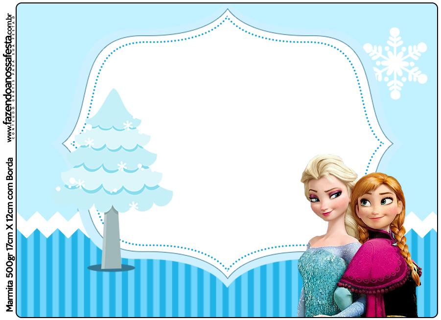 Marmita 500gr Frozen Azul Fazendo A Nossa Festa