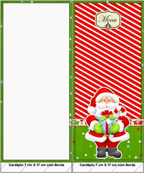 Menu Natal Vermelho e Verde