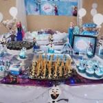 Mesa de Doces Festa Infantil Frozen