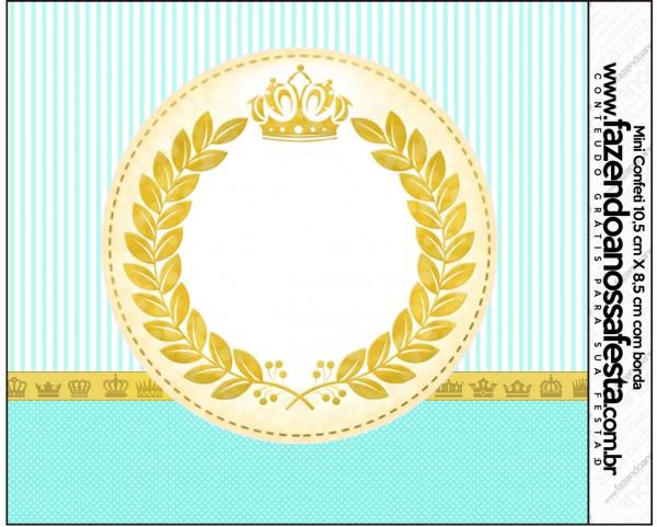 Mini Confeti Coroa de Príncipe Verde