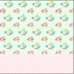 Mini Confeti Floral Verde e Rosa
