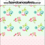 Mini Pastilha Docile Floral Verde e Rosa