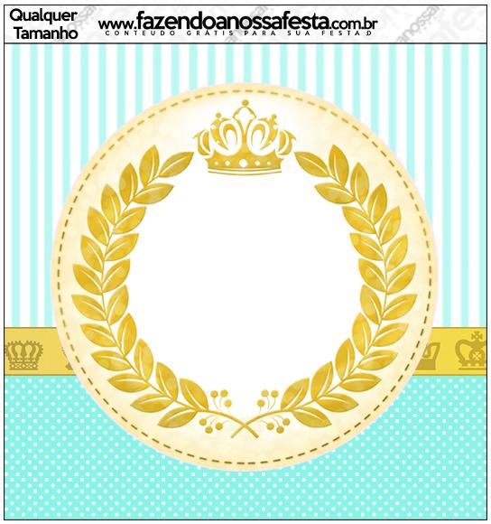 Molde Quadrado Coroa de Príncipe Verde