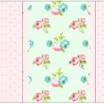 Pé de Moleque Yoki Floral Verde e Rosa