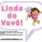 Plaquinhas Divertidas Dora AventureiraPlaquinhas Divertidas Dora Aventureira
