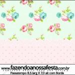 Passatempo Floral Verde e Rosa