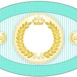 Placa Elipse Coroa de Príncipe Verde
