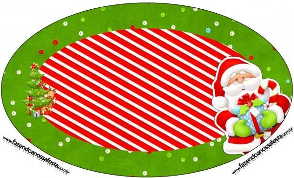 Placa Elipse Natal Vermelho e Verde