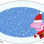 Placa Elipse Peppa Pig Natal