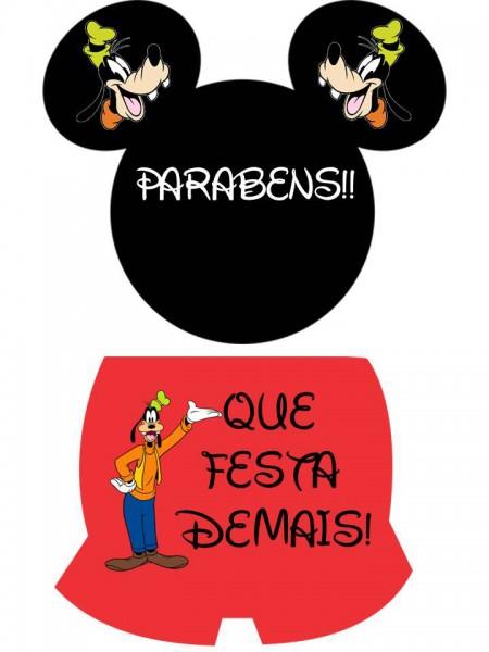 Plaquinha Toppers para Docinhos,Tubetes e Latinhas Festa Mickey Mouse