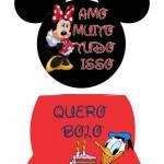Plaquinhas Festa Mickey Mouse
