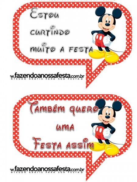 Plaquinhas divertidas Festa Mickey Mouse