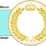 Porta Guardanapos Coroa de Príncipe Verde