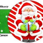Porta Guardanapos Natal Vermelho e Verde
