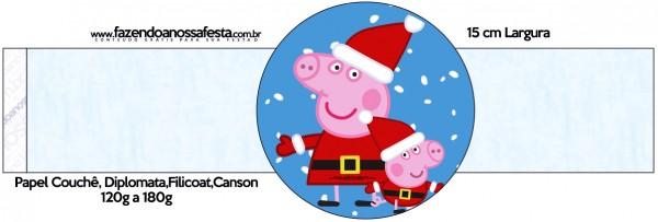 Porta Guardanapos Peppa Pig Natal