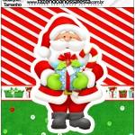 Quadrado Natal Vermelho e Verde
