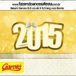 Rótulo Batom Garoto Ano Novo 2015.