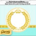 Rótulo Batom Garoto Coroa de Príncipe Verde