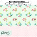 Rótulo Batom Garoto Floral Verde e Rosa