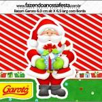 Rótulo Batom Garoto Natal Vermelho e Verde
