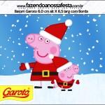 Rótulo Batom Garoto Peppa Pig Natal