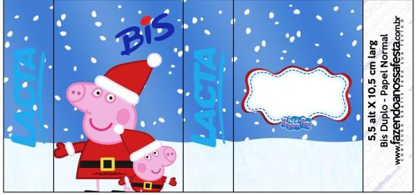 Rótulo Bis Duplo Peppa Pig Natal