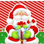 Rótulo Champagne, Vinho e Espumante Natal Vermelho e Verde