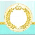 Rótulo Champagne,Vinho e Espumante Coroa de Príncipe Verde