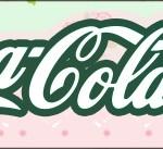 Rótulo Coca-cola Floral Verde e Rosa