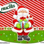 Rótulo Creminho Nucita Natal Vermelho e Verde