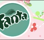 Rótulo Fanta Passarinho Vintage Rosa e Verde