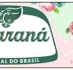 Rótulo Guaraná Caçulinha Floral Verde e Rosa