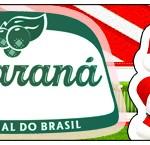 Rótulo Guaraná Natal Vermelho e Verde