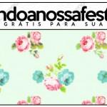 Rótulo Lápis Floral Verde e Rosa