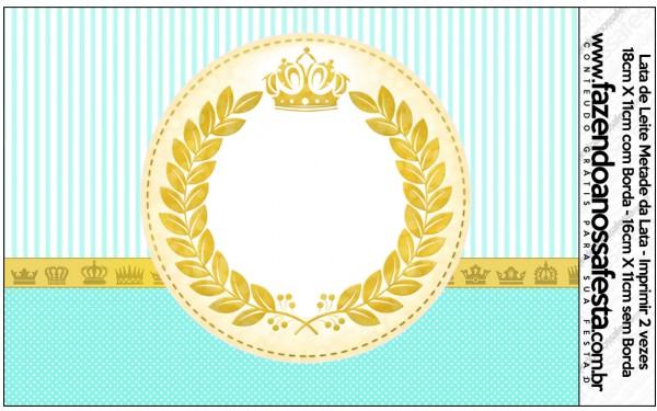 Rótulo Lata de Leite Coroa de Príncipe Verde