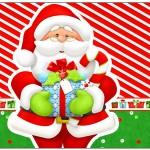 Rótulo Lata de Leite Natal Vermelho e Verde