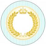 Rótulo Latinhas e Toppers Coroa de Príncipe Verde