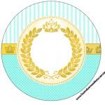 Rótulo Latinhas,Tubetes e Toppers Coroa de Príncipe Verde