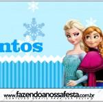 Rótulo Mentos Frozen Azul