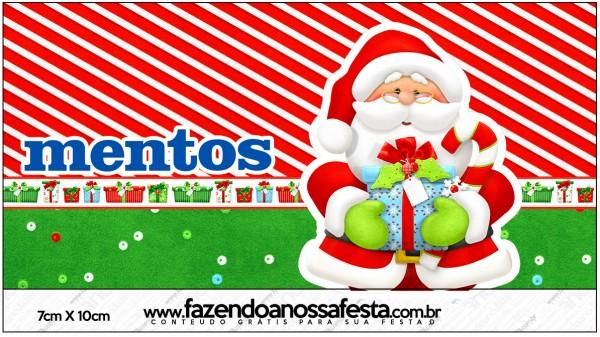 Rótulo Mentos Natal Vermelho e Verde