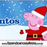 Rótulo Mentos Peppa Pig Natal