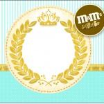 Rótulo Mini M&M Coroa de Príncipe Verde
