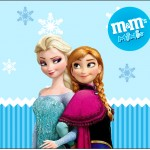 Rótulo Mini M&M Frozen Azul