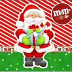 Rótulo Mini M&M Natal Vermelho e Verde